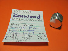 KENWOOD K22-0020-04 KNOB BASS TREBLE SPEAKERS MODE TAPE MON PHONO INPUT KA-7002