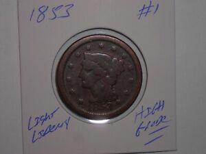 1833 LARGE PENNY LOT #1 LARGE CENT 1833-P LIGHT LIBERTY!