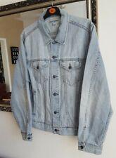 Light Blue Mens Gap Denim Jacket Size L 42 Chest Excellent Condition