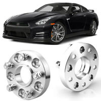 "2pcs 1"" Wheel Spacers Centric Hub Adapters 5x4.5 66.1mm 12x1.25 For Nissan GT-R"