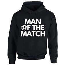 Mens Man Of The Match Football Hoodie - Best Player Sports Footie Game Hooded