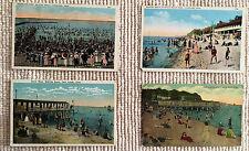 Postcards Conn & Ohio, beach 1900's Vintage Linen Divided Back
