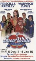 A Card Flyer. Snow White 2014/15 at Opera House Manchester. Signed by Tam Ryan.
