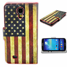 US Flag Leather Stand Phone Wallet Cover Case For Samsung Galaxy S4 S IV i9500