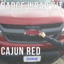 Cajun Red Truck Emblem Wrap Kit - Chevy Silverado 3m BowTie Badge colormatched