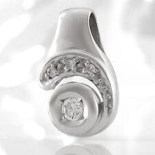 Anhänger in 585/- Weißgold mit 4 Diamanten  ca 0,13 ct