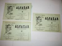 3 VTG ALCAZAR BAR & RESTAURANT PHOTO SOUVENIR COVERS - JUAREZ, MEXICO -TUB MMMM