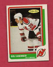 1986-87 OPC # 226 DEVILS ULI HIEMER  ROOKIE CARD