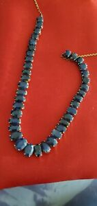 22kt Yellow Gold (17.69 grams) 30Ct Approx. Genuine Burmese Sapphire Necklace