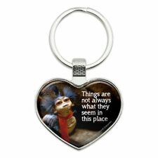 Labyrinth Worm Quote Not What They Seem Heart Love Metal Keychain