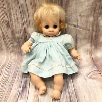 "Madame Alexander 1972 Janie Baby Doll 15"" Sleepy Eyes Lashes Crier Works"