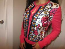 Women's Lilly Pulitzer Coral Paley Silk Island Button up Cardigan Sweater S