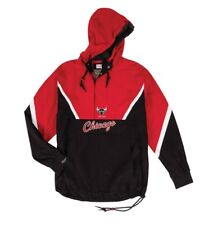NEW Mitchell & Ness Half Zip Anorak NBA Chicago Bulls Light Jacket
