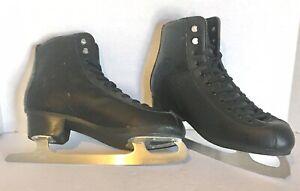 Lake Placid - Mens - Black Leather - Ice Skates Size 11