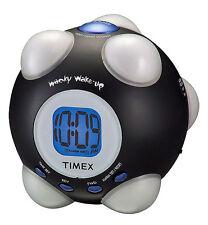 Wacky Phrases Alarm Clock Vibrating Silly Gift Boys Shake N Wake Black T156BX