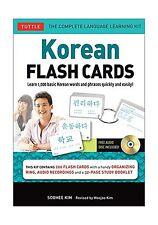 Korean Flash Cards Kit: Learn 1000 Basic Korean Words and Phras... Free Shipping