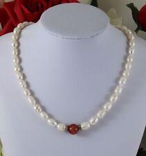 Halsketten und Anhänger mit Achat Echtschmuck im Collier-Stil