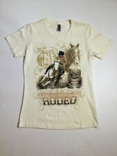 Wrangler 2013 National Finals Womens Los Vegas Rodeo T Shirt Size Medium Ivory