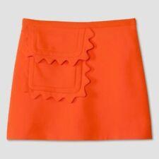Victoria Beckham for Target Orange Scallop Trim Twill Skirt Women's 2X NWT