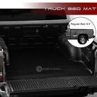 For 99-07 Silveradosierra Stepside 6.5 Blk Rubber Diamond Truck Bed Mat Liner