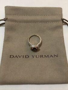 David Yurman Noblesse Ring with Morganite and Diamonds