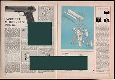 1967 SWEDISH Model 1907 Pistol Exploded View..Parts List..2-pg Assembly Article