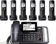 Panasonic 2 Line Bluetooth Corded 6 Cordless Link2Cell KX-TG9582B +4 KX-TGA950B