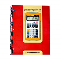 Calculated Industries 2140 Construction Master Pro Workbook and Study Guide   4