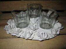 Velas de té en forma de corazón de metal 25cm Rosas