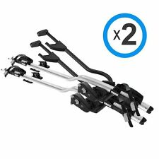 THULE NEW PRORIDE 598 SILVER Twin Pack Roof Top Bike Carrier Pro Ride BA598001