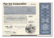 Pan Am Corporation Stock Certificate