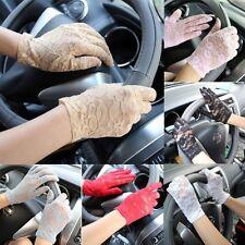 Women's Wrist Lace Gloves UV-proof Driving Gloves Wedding Bridal Short Gloves
