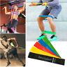 5Pcs Elastic Resistance Loop Bands Exercise Yoga Fitness Gym Booty Leg Training