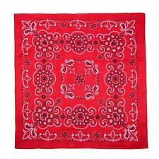 New MTL Extra Large 27 Inch Cotton Texas Paisley Bandana, Red
