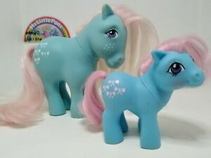My Little Pony vintage G1 UK Collectors post Bow Tie and Baby Bow Tie Euro VGC