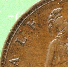 1862 Queen Victoria Half-Penny Top of F missing SNo25373