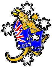 SOUTHERN CROSS WITH BOXING KANGAROO EST. 1788 VINYL DECAL 80M BY 62MM