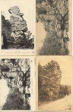 Lot 4 cartes postales anciennes AVALLON crot de la foudre