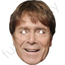 Cliff Richard Celebrity Card Mask 1980s 1970s- All Our Masks Are Pre-Cut!