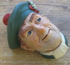 Jock Scotsmans Head Wall Figure Bossons Congleton England Scottish 1960 Tam Hat