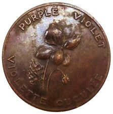 1867 NEW BRUNSWICK CANADA 1 PENNY PURPLE VIOLET TOKEN