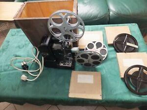 projecteur 9,5 mm ciné gel le mans plus 4 films de 9,5 mm plus bobine vide