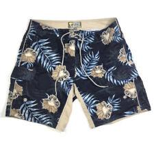 Mens Point Zero Bathing Shorts Swim Trunks Size Medium 100% Polyester Blue