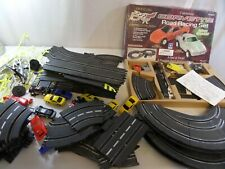 Tabletop Corvette racing set with 80+ other slot racing track and cars, etc