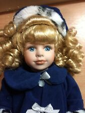 Collectors Choice Series By Dan Dee Porcelain Doll In Winter Coat