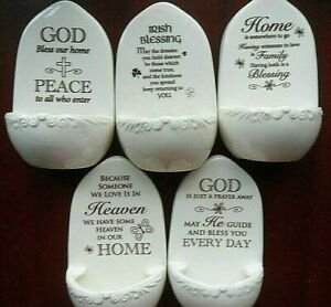 Holy water font , Inspirational sayings. Irish Blessing, God bless our home, etc