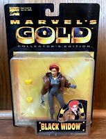 Black Widow Vintage Marvel's Gold Action Figure New 1997 Toybiz Marvel Avengers