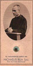 "1932 EX INDUMENTIS SERVI DEI "" MICHAELIS RUA SAC. "" HOLY CARD RELIC 1-1"