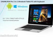 CHUWI Hi10 Pro Tablet PC 10.1'' Windows+Android Quad Core 4G+64G con tastiera