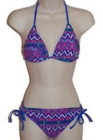 California Waves blue triangle bikini size M swimsuit new